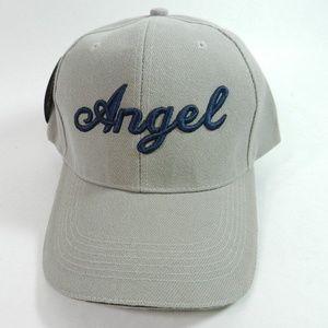 Angel Baseball Hat Cap Strapback 3D Logo Gray New